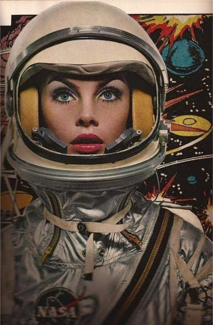 Jean Shrimpton in space...