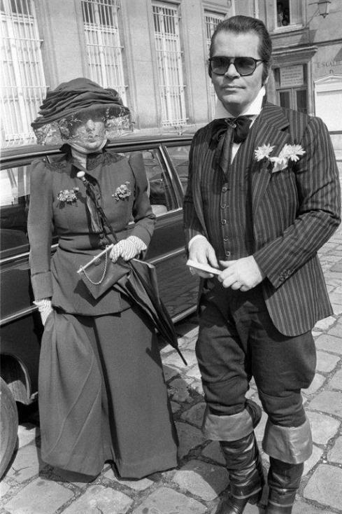 Anna Piaggi & Karl Lagerfeld 4