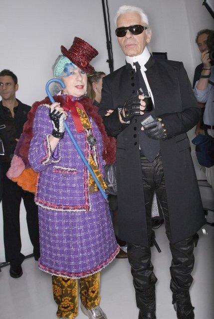 Anna Piaggi &  Karl Lagerfeld