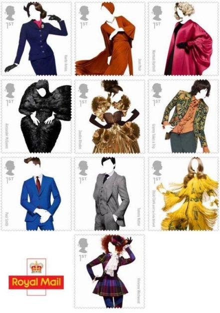 2012 Royal Mail Fashion stamps