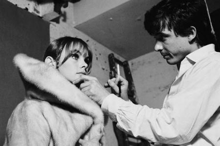 Jean Shrimpton & David Bailey  at work