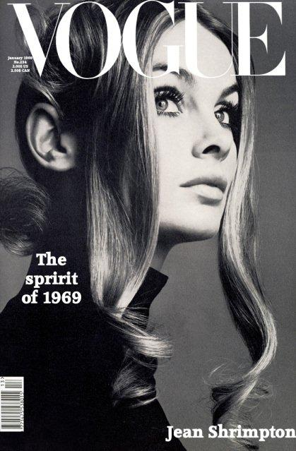 Jean Shrimpton on Vogue Cover