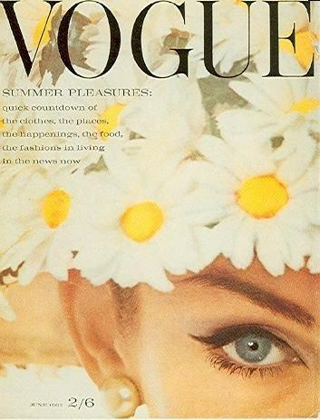 Jean Shrimpton on the cover of Vogue