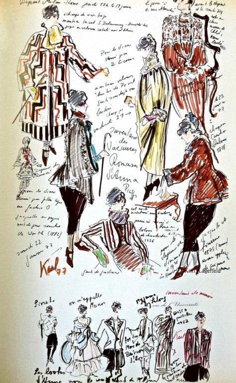 Karl Lagerfeld sketch 4