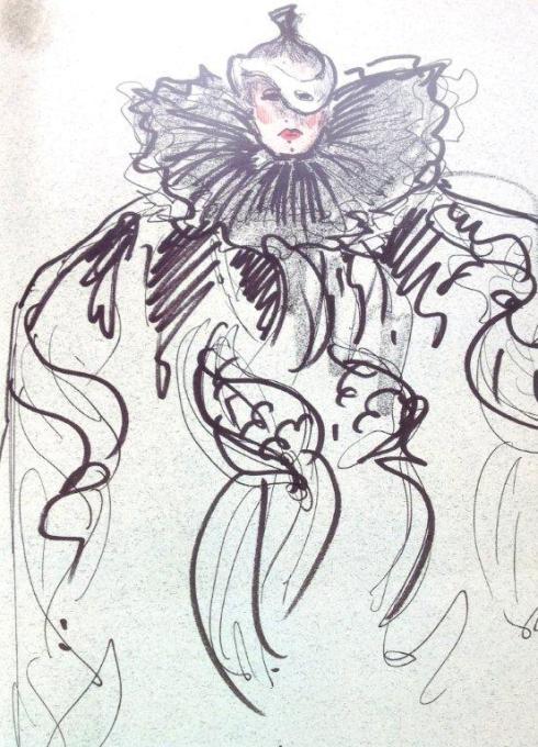 Karl Lagerfeld sketch 6
