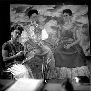 Frida Kahlo and 'The Two Fridas'painting