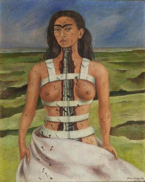 Frida selfportrait in corset