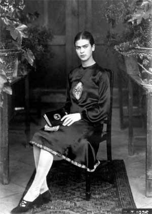 Young Frida Kahlo photographed by her father Guillermo