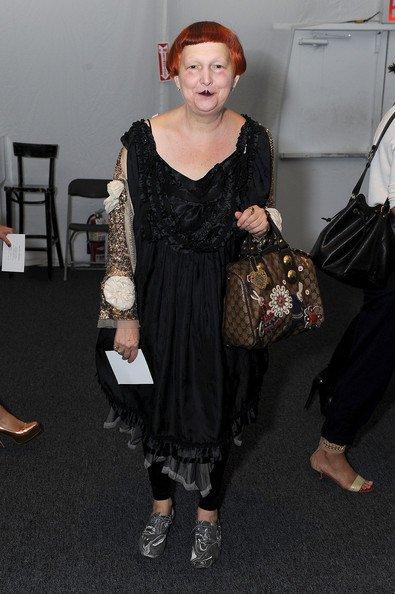 Lynn Yeager with an expensive bag