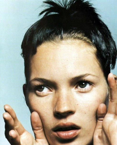 Kate Moss in Heads: Hair by Guido