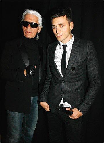 Karl Lagerfeld & Hedi Slimane