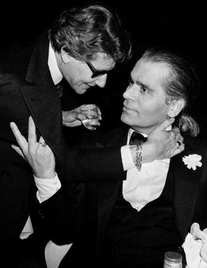 Yves-Saint-Laurent-Karl-Lagerfeld