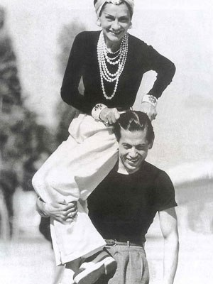 Gabrielle 'Coco' Chanel and Serge Lifar (The principal dancer of Diaghilev's Ballets Russes during its final years in the late 1920's) -