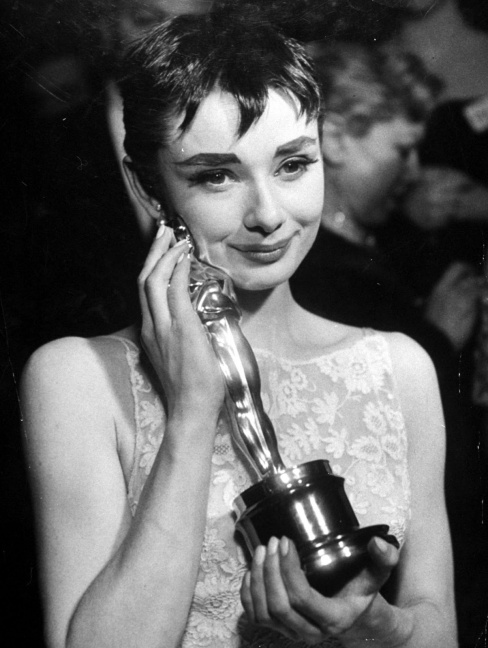 Audrey with her oscar
