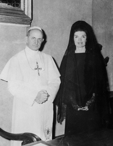 Jacqueline Kennedy Visiting Pope Paul VI