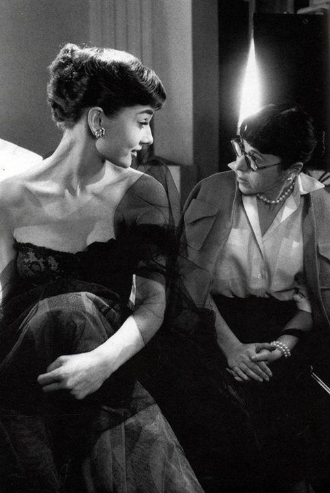 Audrey Hepburn & Edith Head