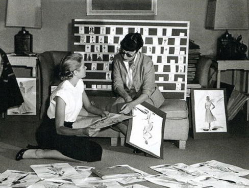 Edith Head + Grace Kelly