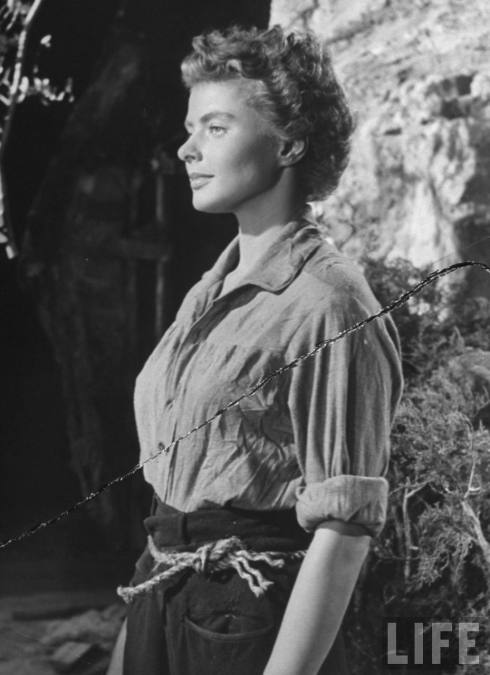 Ingrid Bergman as Maria in the movie For Whom the Bell Tolls1944