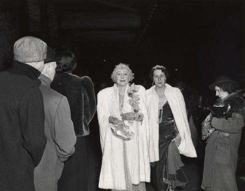 The Critic, 1943.  Mrs Cavanaugh and friend entering the opera.