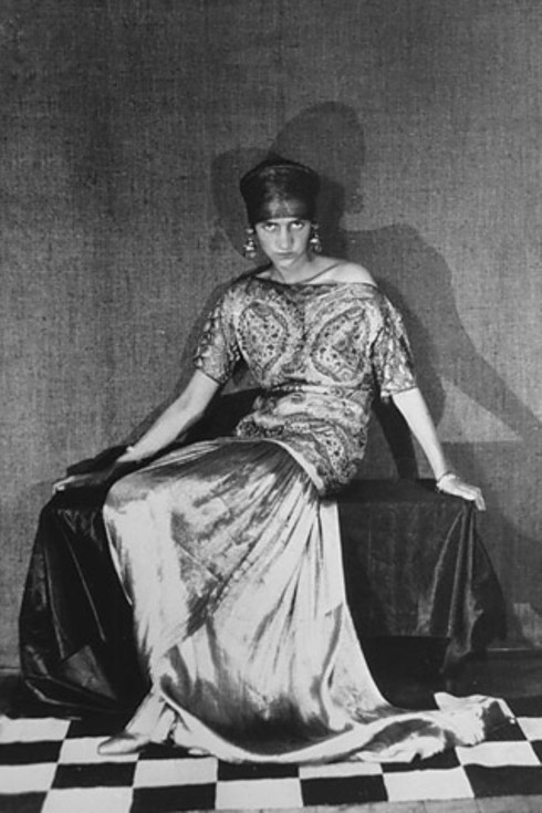 peggy gugenheim wearing poiret, by Man Ray 1923