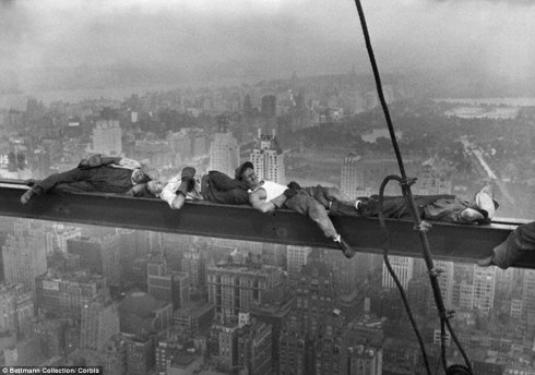 Resting on a Girder. by Charles Glyde Ebbets