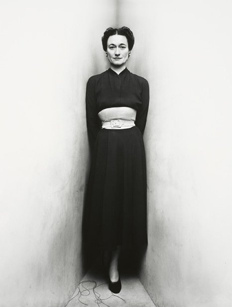 Duchess of Windsor, by Irving Penn; this corner was a Penn trademark.