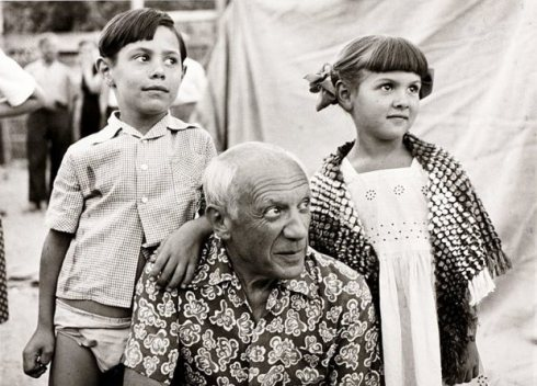 Claude, Pablo & Paloma Picasso