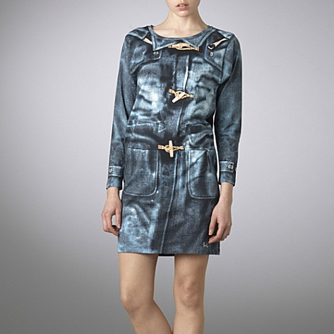 Paul Smith Duffle coat print tee dress