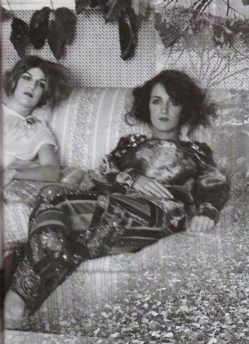 deborah turbeville 005 Corenlia and Bianca Brandolini D'adda- vogue italia