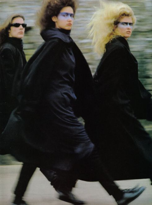 US Vogue 1983 Polly Mellen  Helmut Newton & Hans Feurer