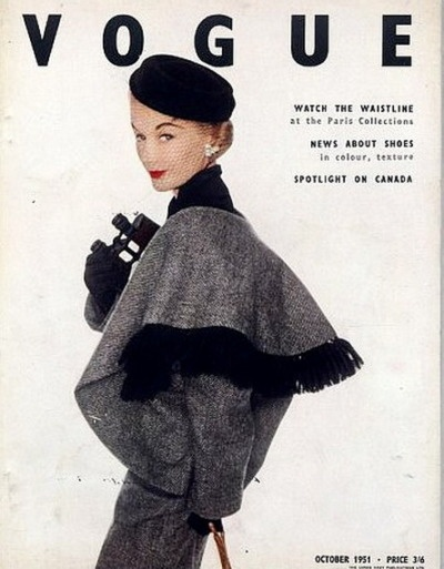 British Vogue Oct. 1951, cover by Irving Penn