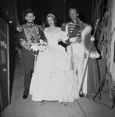 Countess Mona von Bismarck with Cecil Beaton and Ben Ali Haggin at the Metropolian Opera Ball, April 28, 1933.
