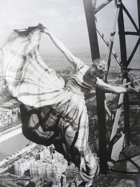 Eiffel Tower by Erwin Blumenfeld for Vogue magazine, 1939. Lucien Lelong dress