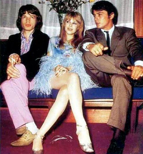Jagger, Faithfull & Delon