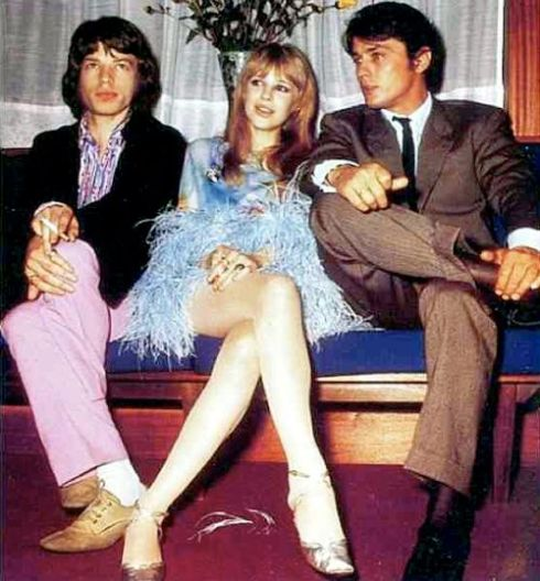 Jagger, Faithfull & Delon