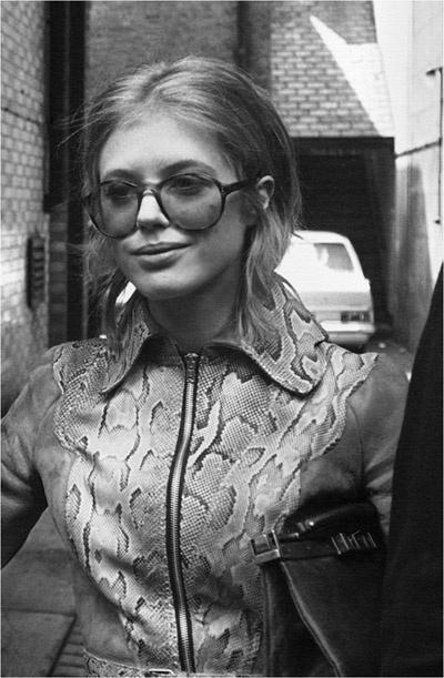 Marianne Faithfull wearing Ossie Clark