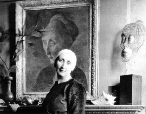 Edith In Front Of Her Tchelitchew Portrait