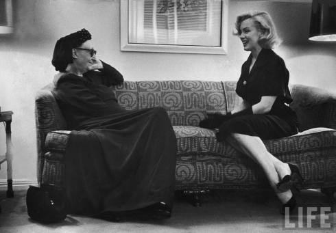 George Silk, Portrait of Edith Sitwell and Marilyn Monroe in Hollywood, 1953