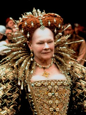 Dame Judi Dench as Queen Elizabeth I sheakspeare in love