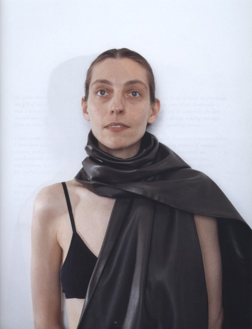 Jutta Koether in Hermès by Martin Margiela as shot by Mark Borthwick