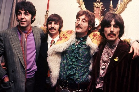 BEATLES in their Apple offices in Saville Row, London, for  the launch of Sgt Pepper in June 1967