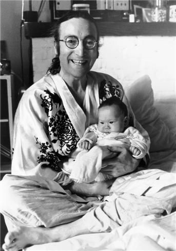 John and Sean Lennon, 1975 Bob Gruen