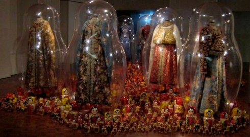 """n 2005, An and Filip were asked by MOMU, the renowned Antwerp Fashion Museum, to curate """"Katharina Prospekt"""" an exhibition based upon the couple's impressions of Russia."""