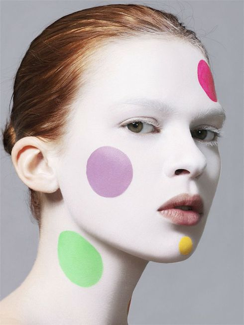 polka dots in make up