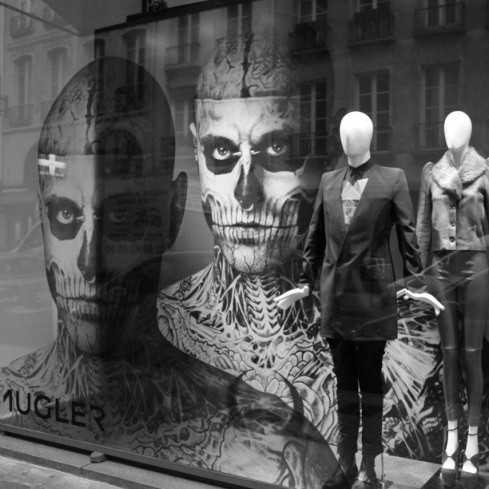 Colette Thierry Mugler window