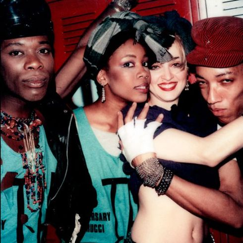 Madonna and her dancers, the 15th anniversary of Fiorucci at Studio 54, 1983.
