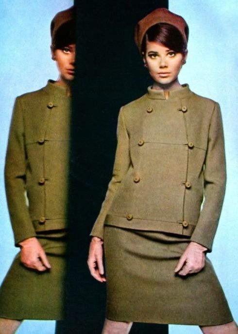 Colleen Corby in Pierre Balmain Marie Claire France September 1965