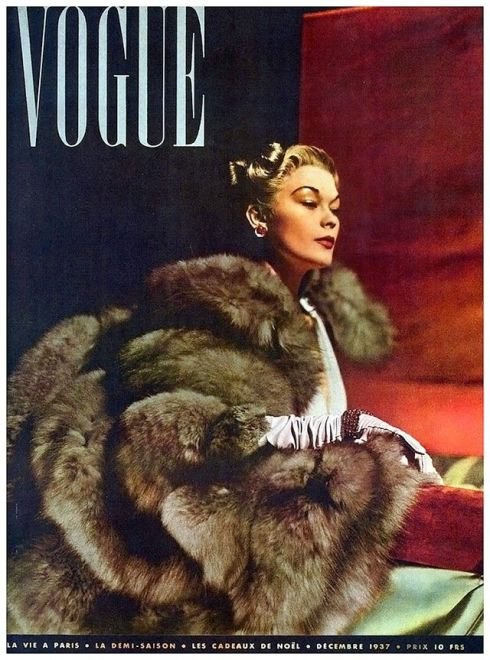 1937 Paris Vogue cover. Lud by Horst P. Horst