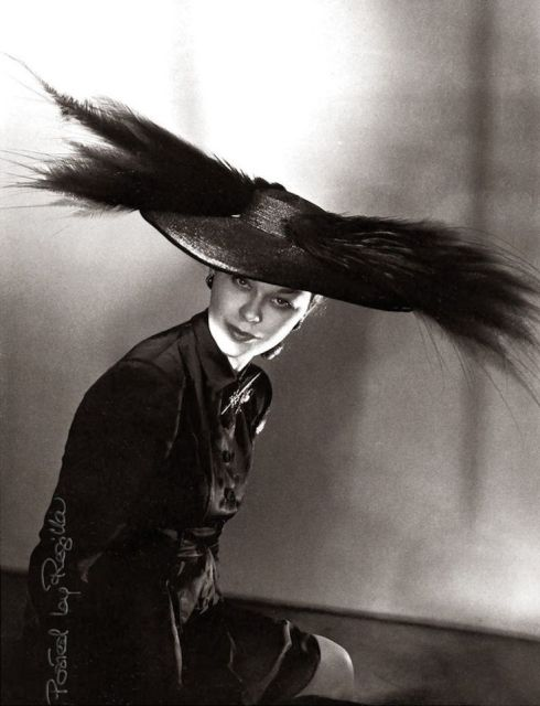 Schiaparelli hat modeled by Lud photograph by Horst 1946