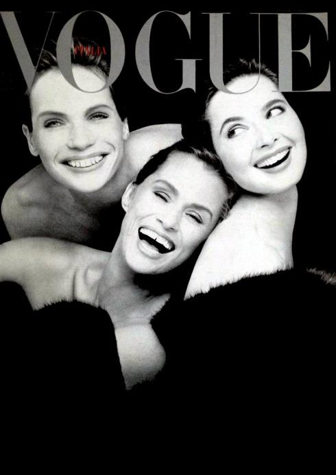 Veruschka, Isabella Rossellini Lauren Hutton by Steven Meisel 1988.